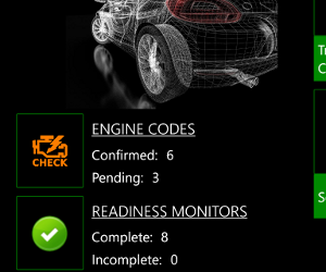 OBD Auto Doctor for Windows Phone screenshot